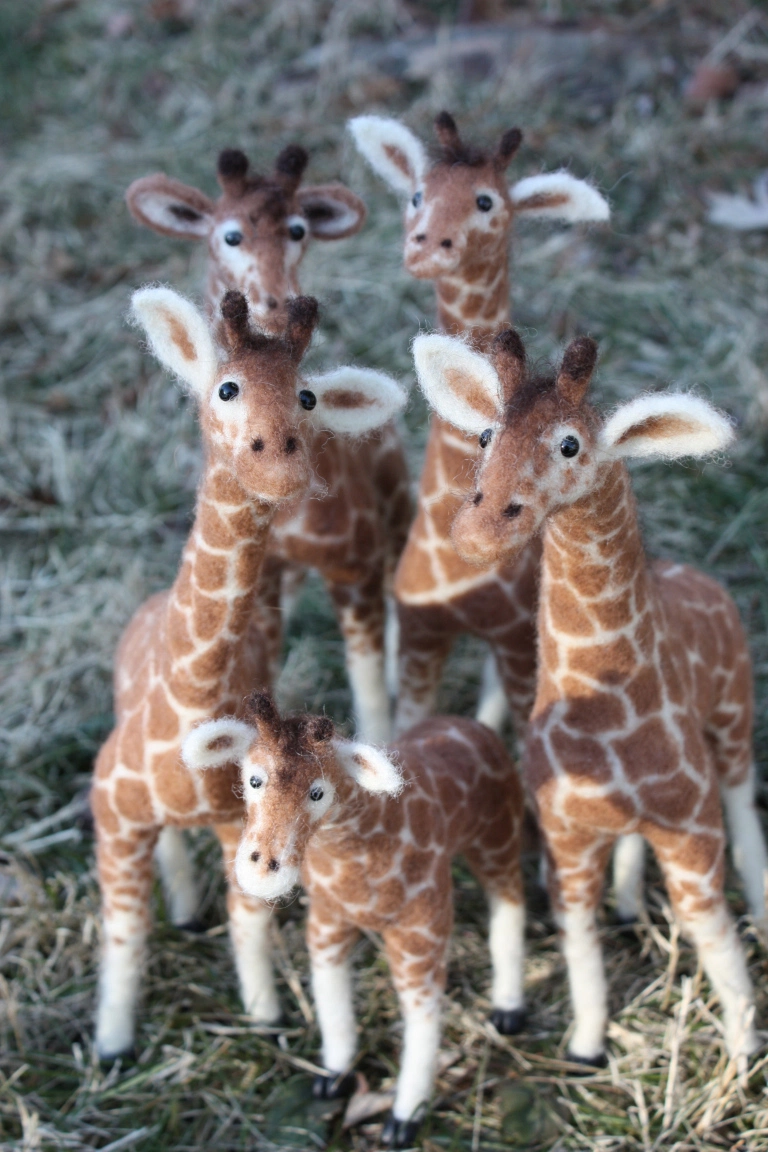 OMG — Felted CUTENESS Abounds in these Needle Felted Giraffes!