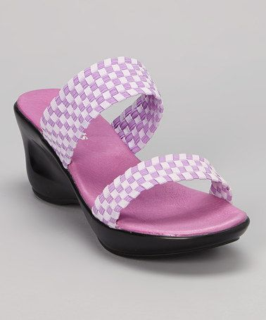 Light Purple Emma Wedge Sandal on #zulily! $19.99