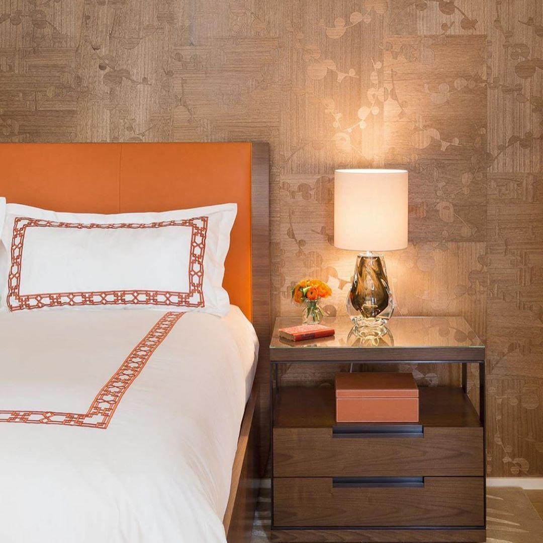 Maya Romanoff On Instagram This Outstanding Bedroom By Kristiwill Design Features Our Mayaromanoff Aji Beautiful Bedroom Designs Wall Coverings Wood Veneer