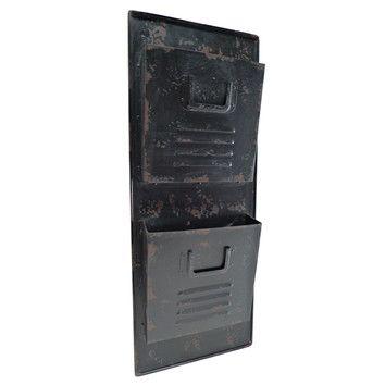2 Tier File Pockets Wall Organizer With Mail Storage Mail Holder Black Walls Mail Storage