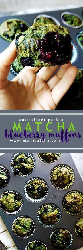Photo of Antioxidant-packed Matcha Blueberry Muffins (GF