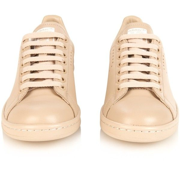 647b1ffdd65 Raf Simons X Adidas Stan Smith leather trainers (€270) ❤ liked on Polyvore  · Beige SneakersBeige ShoesLeather ...