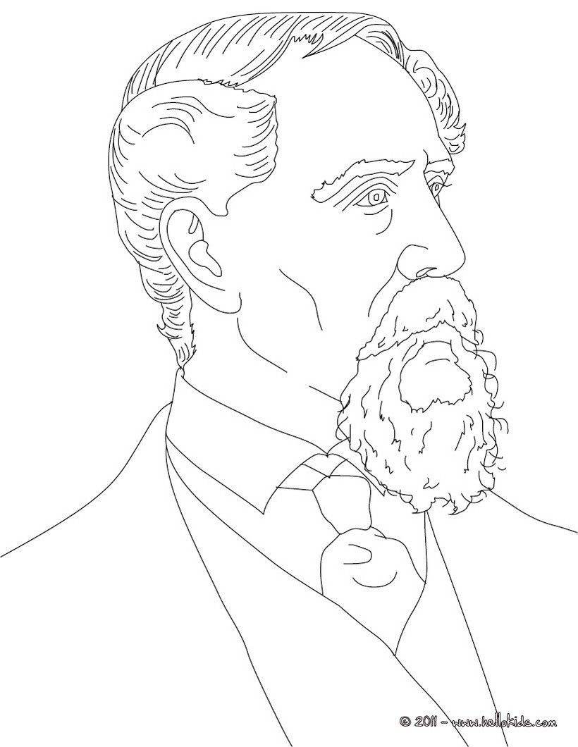 British Authors Colouring Pages Charles Dickens People Coloring Pages Coloring Pages Colouring Pages