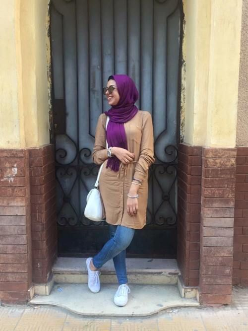 tan-long-blouse-casual-hijab- Hijab casual wear 2017 http://www.justtrendygirls.com/hijab-casual-wear-2017/