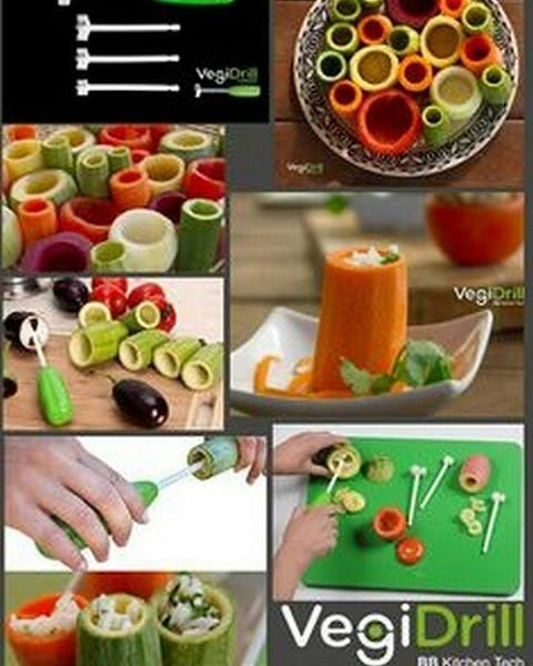 Vege drill is a revolutionary new patent corer for making stuffed amazon best sellers best kitchen dining forumfinder Gallery