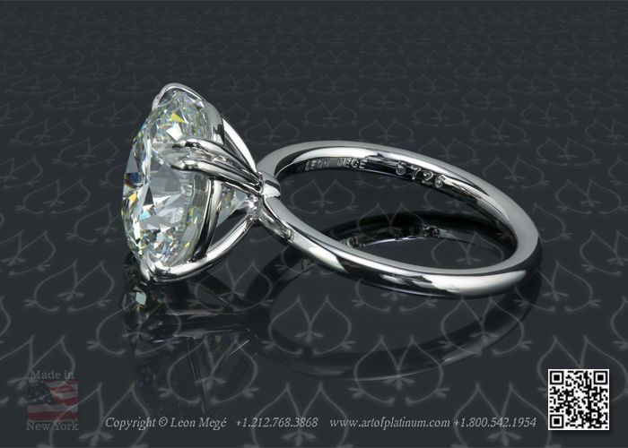Holy Cow I Think Just Found My Simple Everyday Ring Round Solitaire Diamond With 5 Carat Rbc By Leon Mege