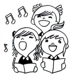 Coloring Pages Of Kids Singing Google Search Kids Singing Coloring Pages Clip Art