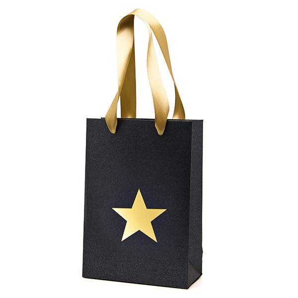 Black Pearl with Gold Star Gift Bag | Hollywood Party | Pinterest ...