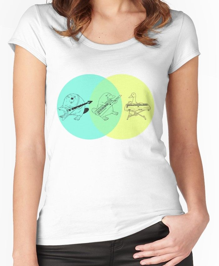 Platypus Venn Diagram Lutron Keypad Wiring Keytar Women S Fitted Scoop T Shirt