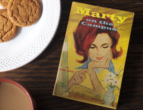 Marty on the Campus by Elisa Bialk- vintage pulp novel about adventures on a college campus #vintage #pulp #pulpfiction #college