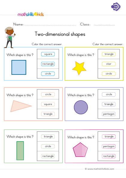 Two Dimensional Shapes Shapes Worksheets 1st Grade Worksheets Two Dimensional Shapes