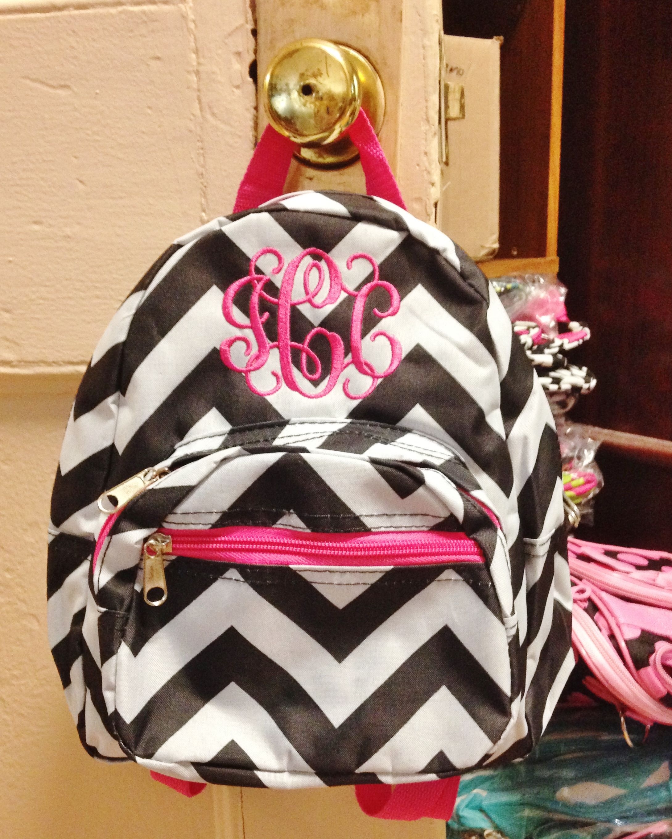 Monogrammed Toddler Backpacks - Personalized with Name or Initials ... e94f8dfd26575