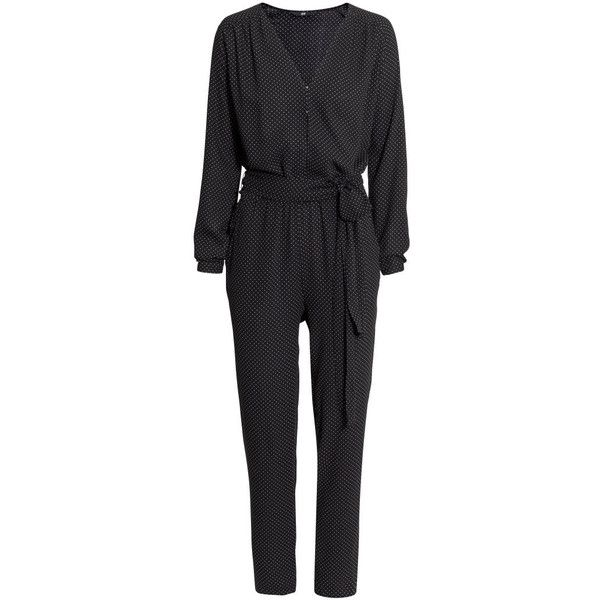 095ac07261e2 H M Spotted jumpsuit (£15) ❤ liked on Polyvore featuring jumpsuits ...