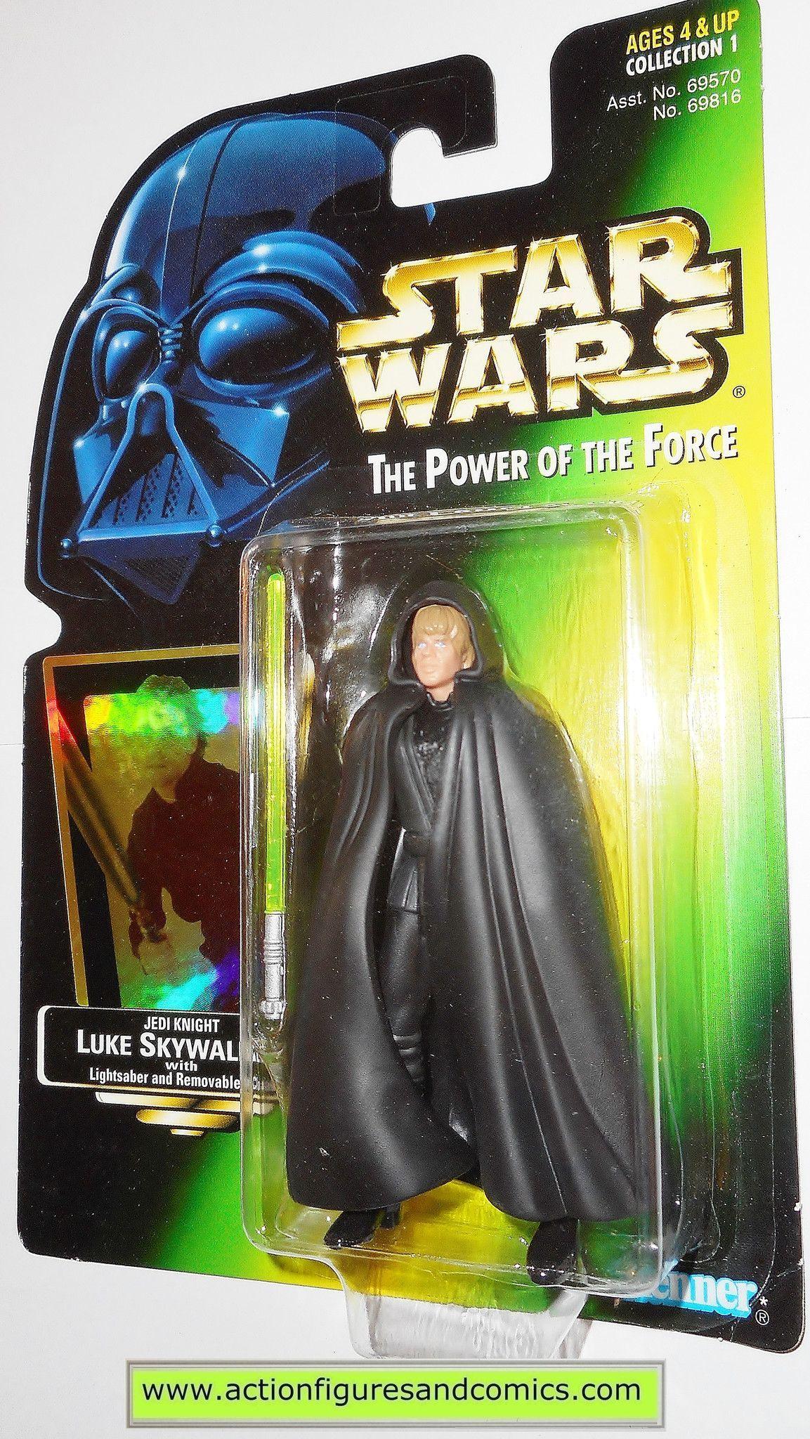 Power of The Force Green Card Luke Skywalker Jedi Knight Action Figure Star Wars
