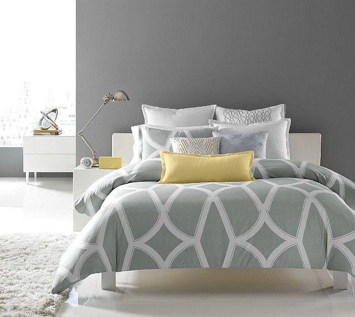 Idées Déco pour une chambre jaune et grise | Jaune, Gris et Chambres
