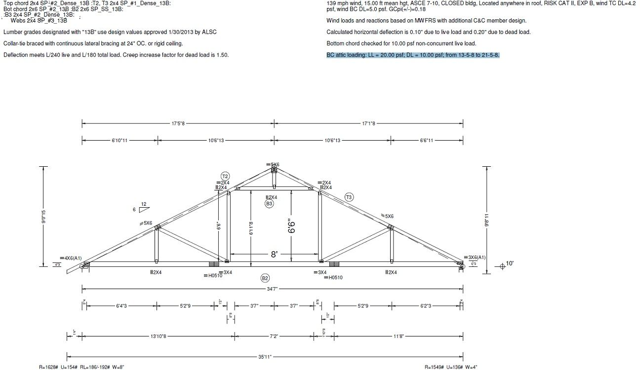 36 Attic Truss 6 12 Pitch Attic Truss Attic Storage Garage Plans