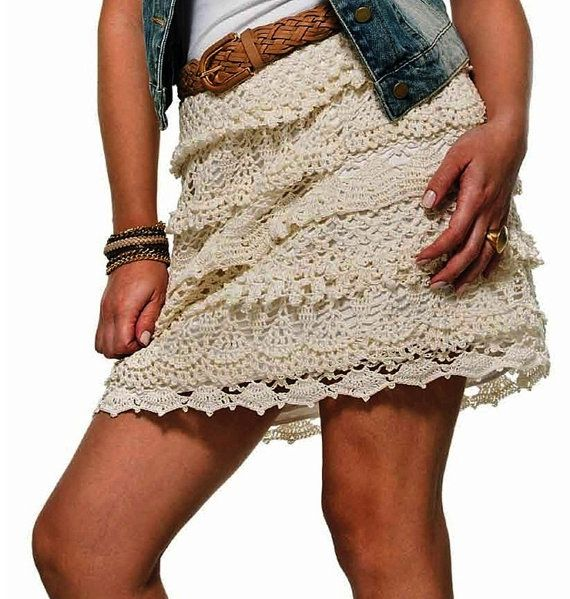 Mini skirt crochet PATTERN boho crochet skirt pattern | Crochet ...