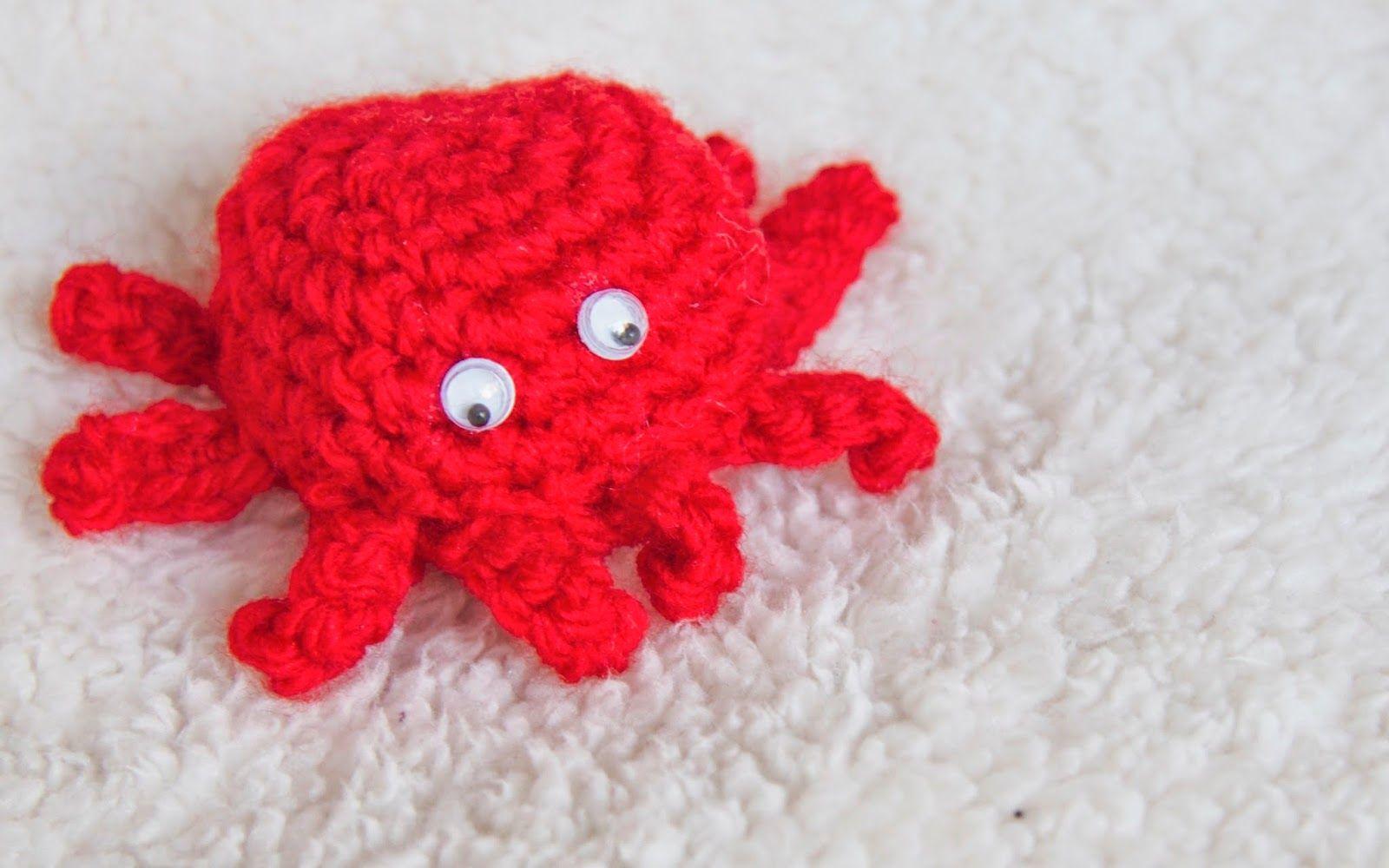 Bastelspaß Mit Hasekind Anleitung Amigurumi Mini Krabbe