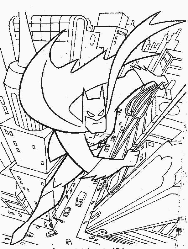 Batman Cartoon Coloring Pages - Coloring Home | 794x600