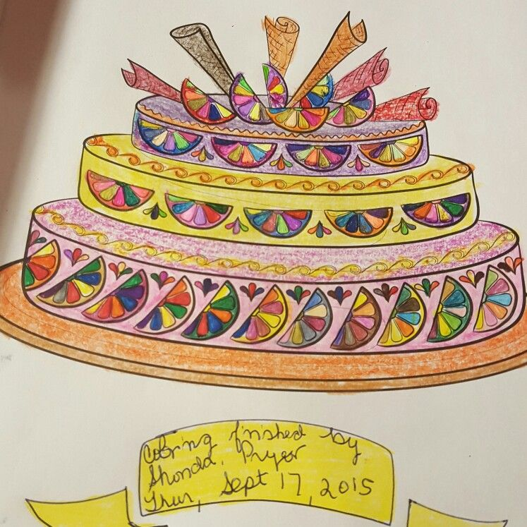 Lemon Cake. .Coloring Page i color from the Colorama Coloring Book ...
