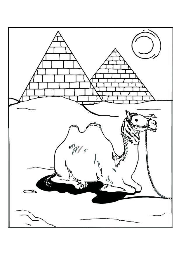 Dibujos de las Pirámides de Egipto para colorear y pintar | Ancient ...