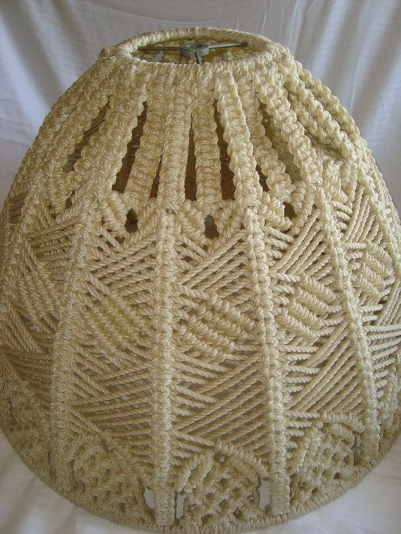 Groovy retro macrame lamp shade by thecookieclutch on etsy macram groovy retro macrame lamp shade aloadofball Choice Image