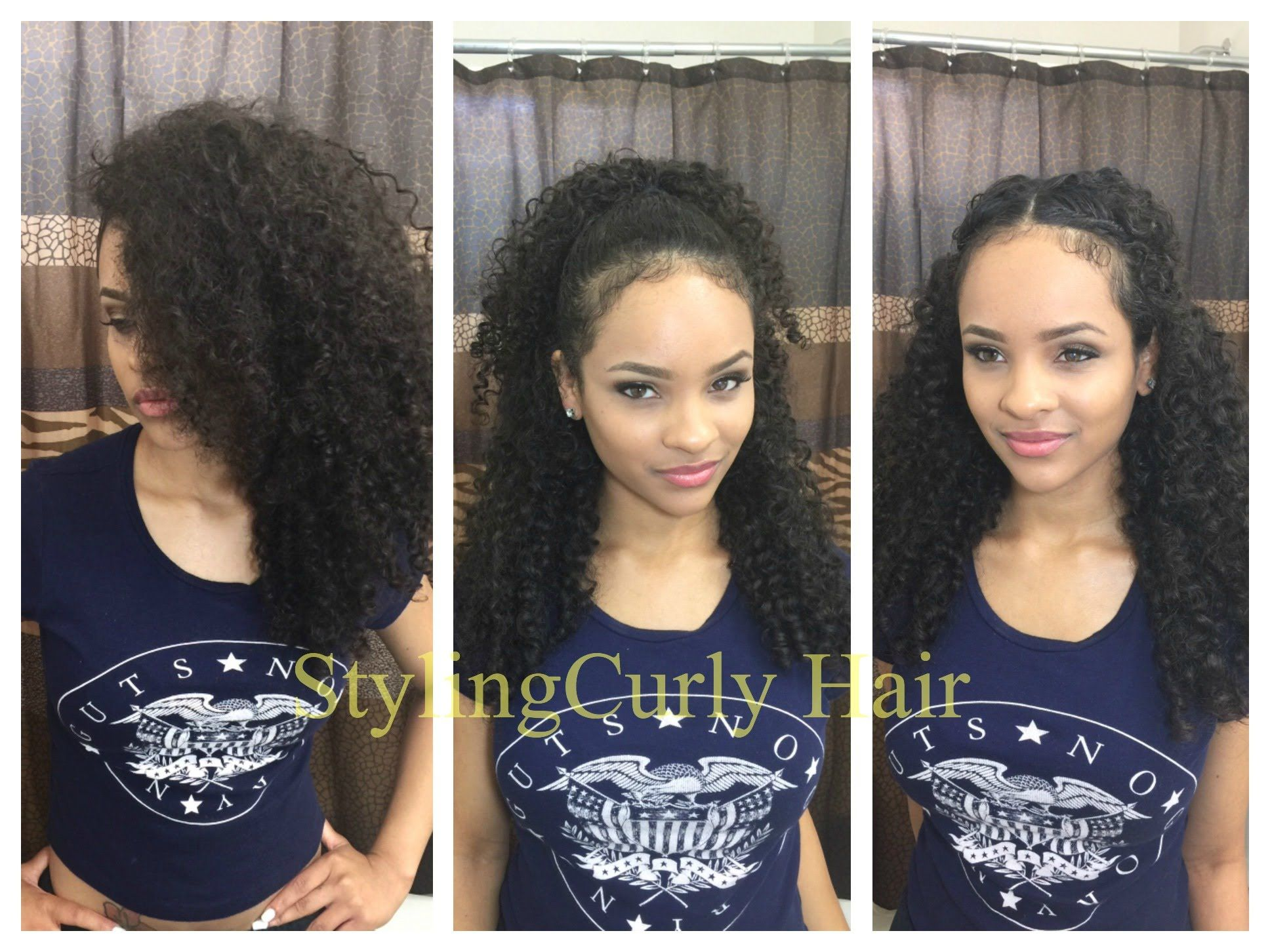 6 Quick And Simple Ways To Style Curly Hair Sayria Jade Amornai Mixed Curly Hair Curly Hair Styles Naturally Curly Hair Styles