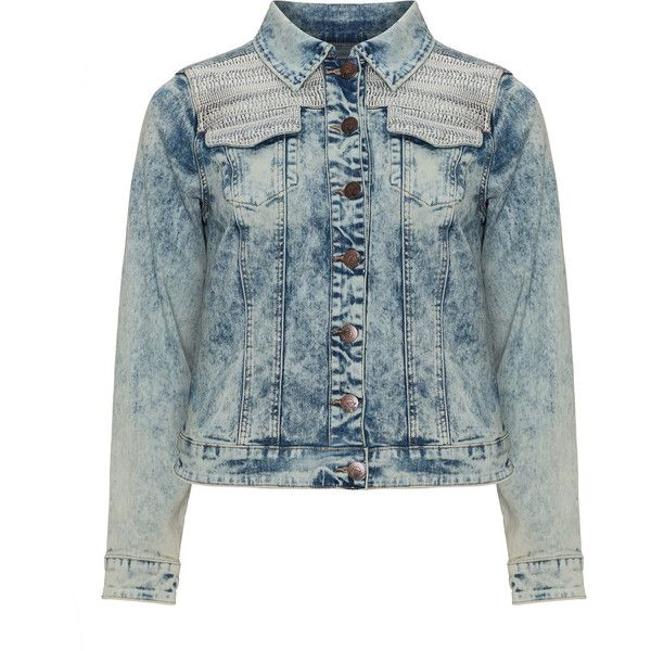 5da29be0e6a Zizzi Blue Plus Size Distressed denim jacket ( 48) ❤ liked on Polyvore  featuring outerwear