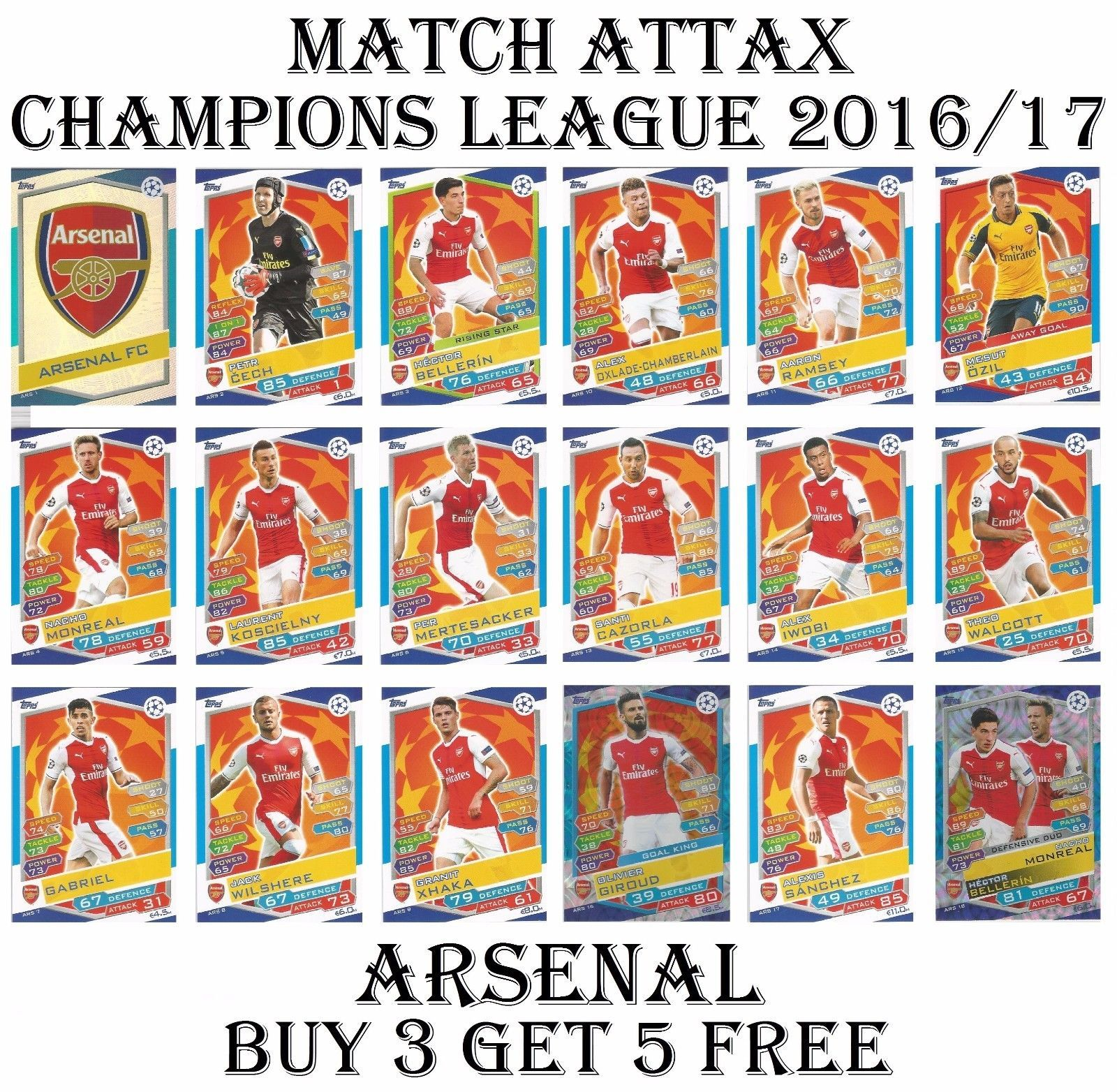 Arsenal Match Attax Champions League 2017 Card 2016 17 View More On The Link Http Www Zeppy Io Product Gb 2 3519553 Arsenal Match 2017 Card Match Attax