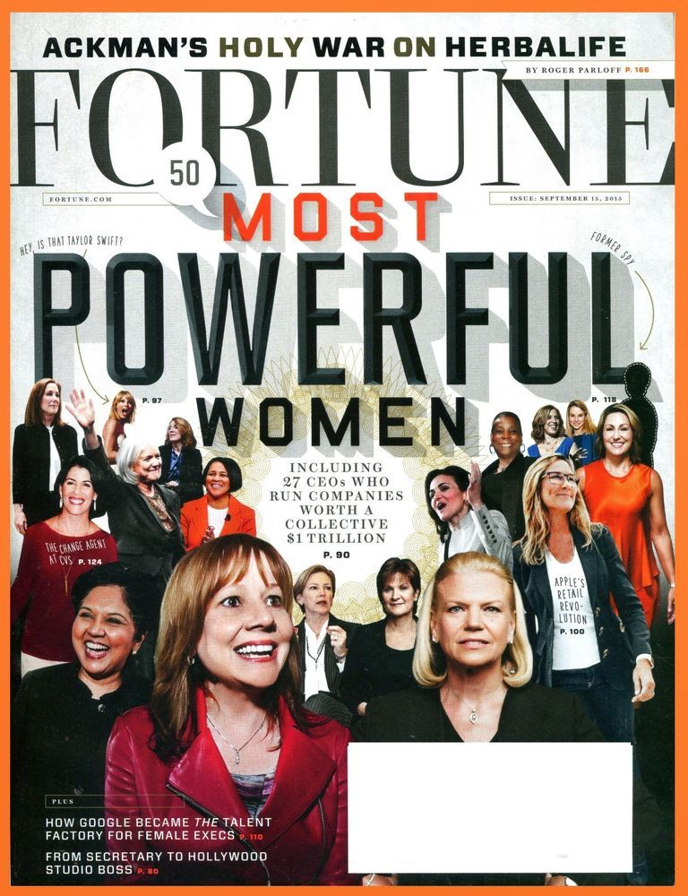 FORTUNE Magazine September 15, 2015 - 50 Most Powerful Women - NEW & Unread