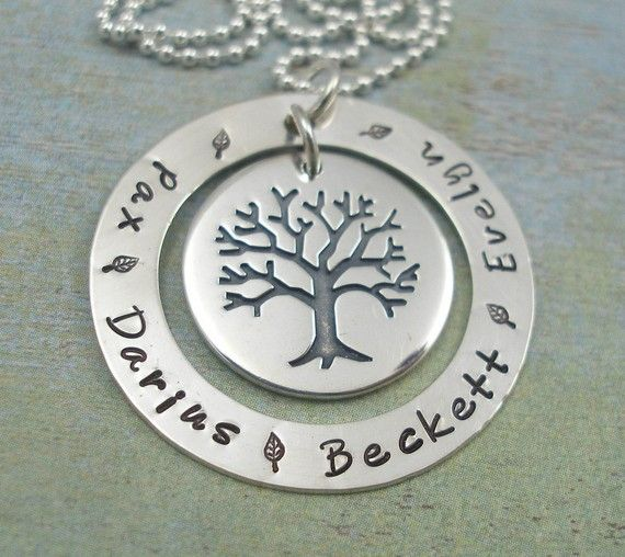 Sterling Silver 1 1 4 Washer Hand Stamped With Your Names