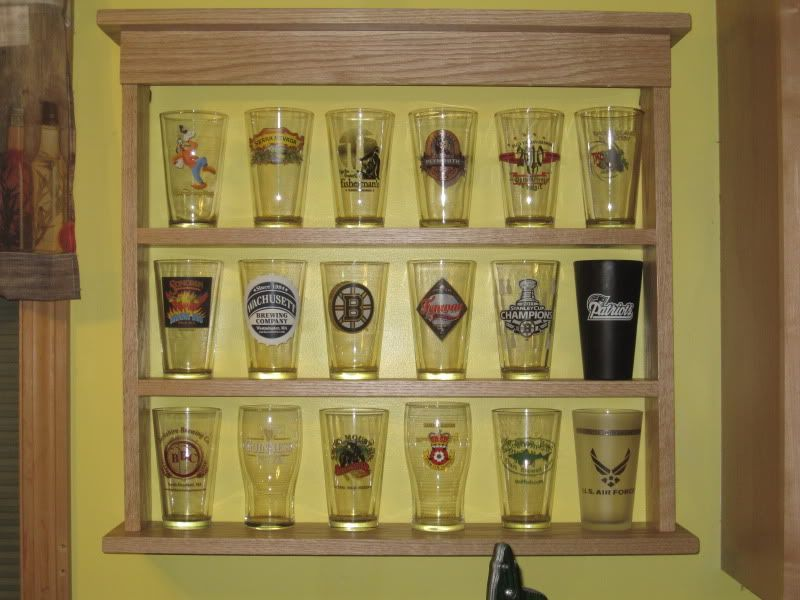 New pint glass display case - Home Brew Forums | DIY Alice ...