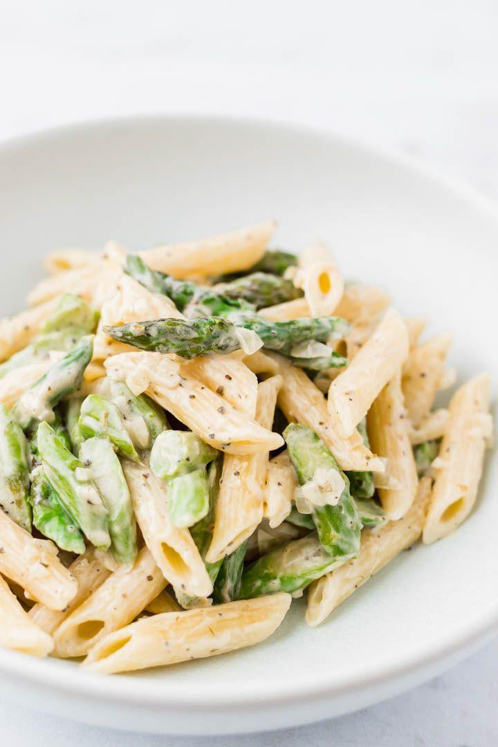 Cremige Spargelnudeln nach Alfredo Art   - Rezepte - Pasta, Nudeln -