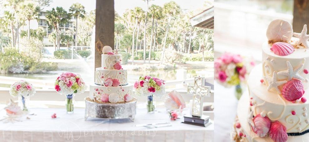 beach theme wedding cake. wedding photography. sonesta-wedding-hilton-head-island. W PHOTOGRAPHY 2014