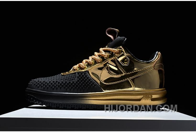 newest f79e7 1047b Buy Nike Air Force Nike Lunar Force 1 Duckboots Fashion Sneakers Gold Black  For Sale