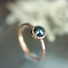 blue rose cut diamond