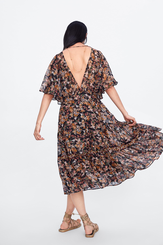 Forema Me Loyloydato Sxedio Foremata Ekptwseis Gynaikeia Zara Ellada Dresses Floral Print Dress Print Dress