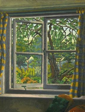 Through a Cottage Window, Shipley, Sussex by Charles Ginner (UK)