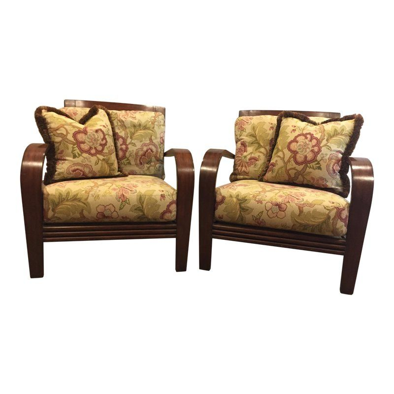 Ethan Allen Jamaica Arm Chairs A Pair Armchair Chair Club Chairs