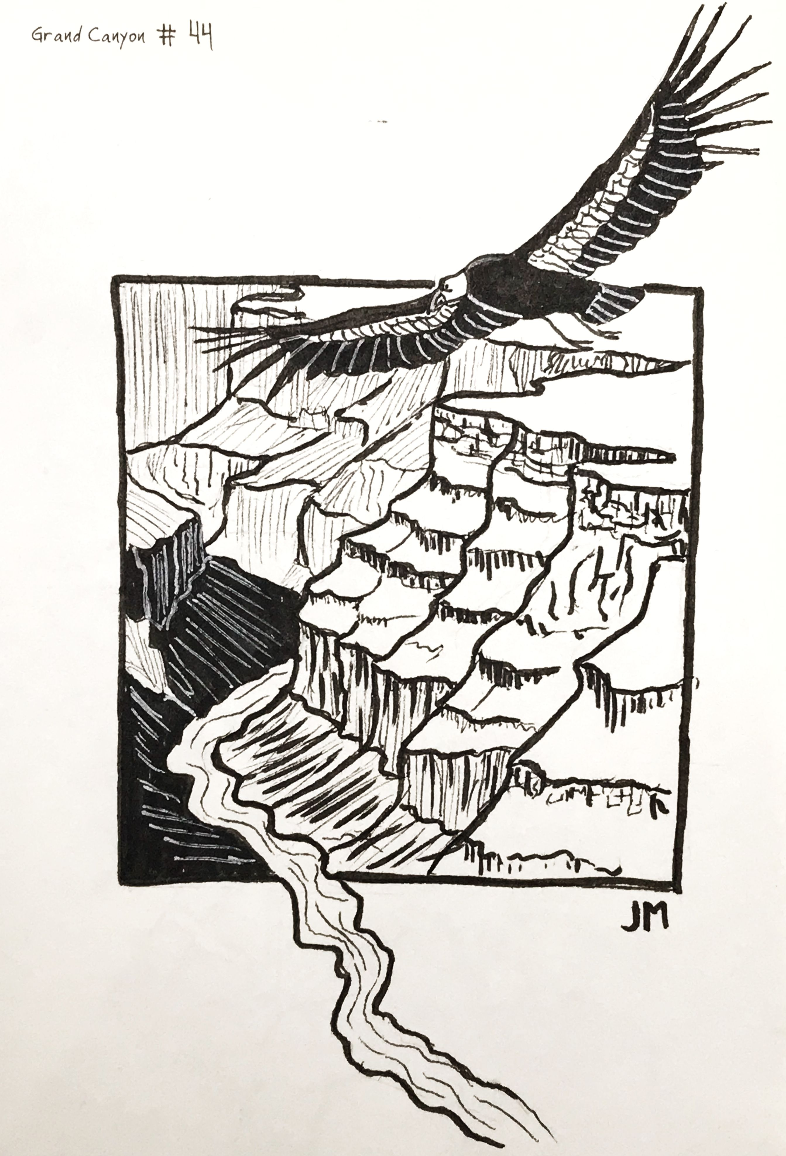 Drawing Prompt No 44 Grand Canyon