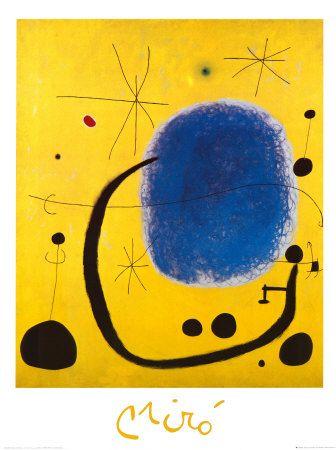 Joan Miró. L'Oro dell' Azzurro. From All Posters.