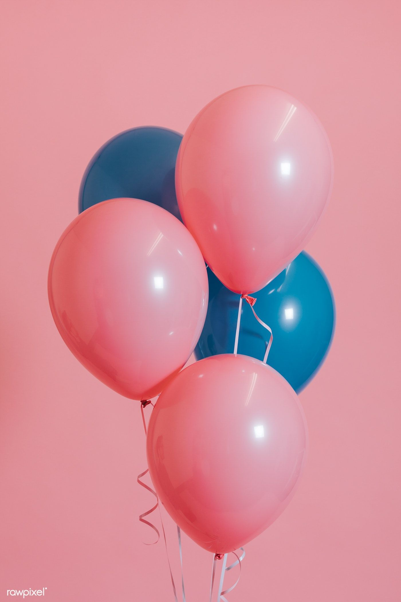 Pink And Blue Balloons For A Birthday Party Premium Image By Rawpixel Com Felix Blue Balloons Images For Valentines Day Balloons