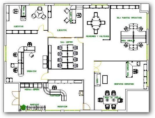 Resultado de imagen para distribucion oficinas for Distribucion de oficinas