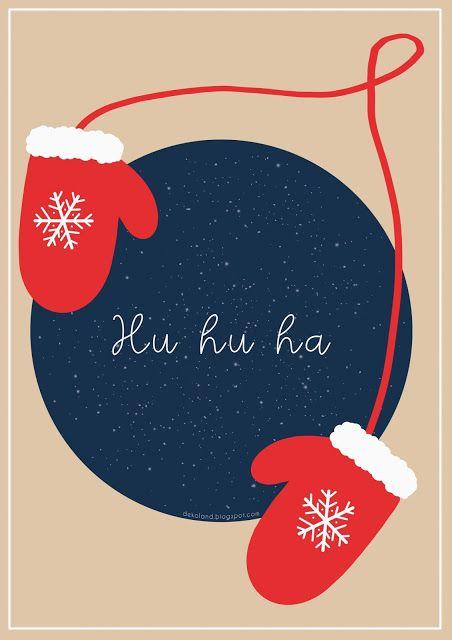D E K O L A N D świąteczne Grafiki Do Druku Plakaty Do
