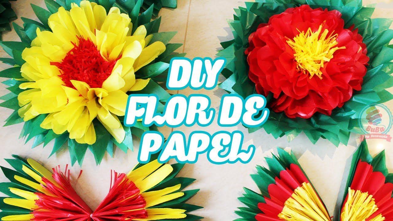 Diy Flor De Papel De Seda How To Make Paper Flowers Youtube
