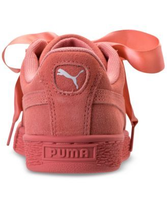 bea366178b84 Puma Girls  Suede Heart Casual Sneakers from Finish Line - Pink 6.5 ...