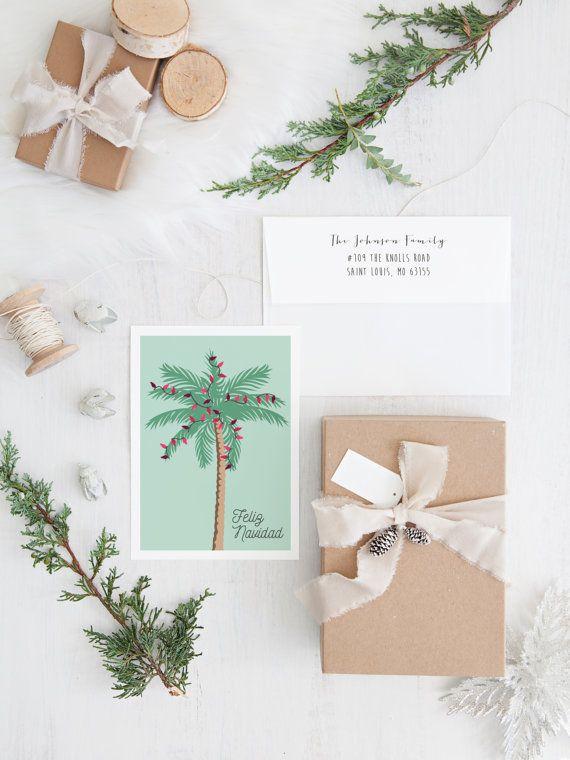 palm tree christmas cards florida holiday card feliz navidad tropical christmas card pdf - Palm Tree Christmas Cards