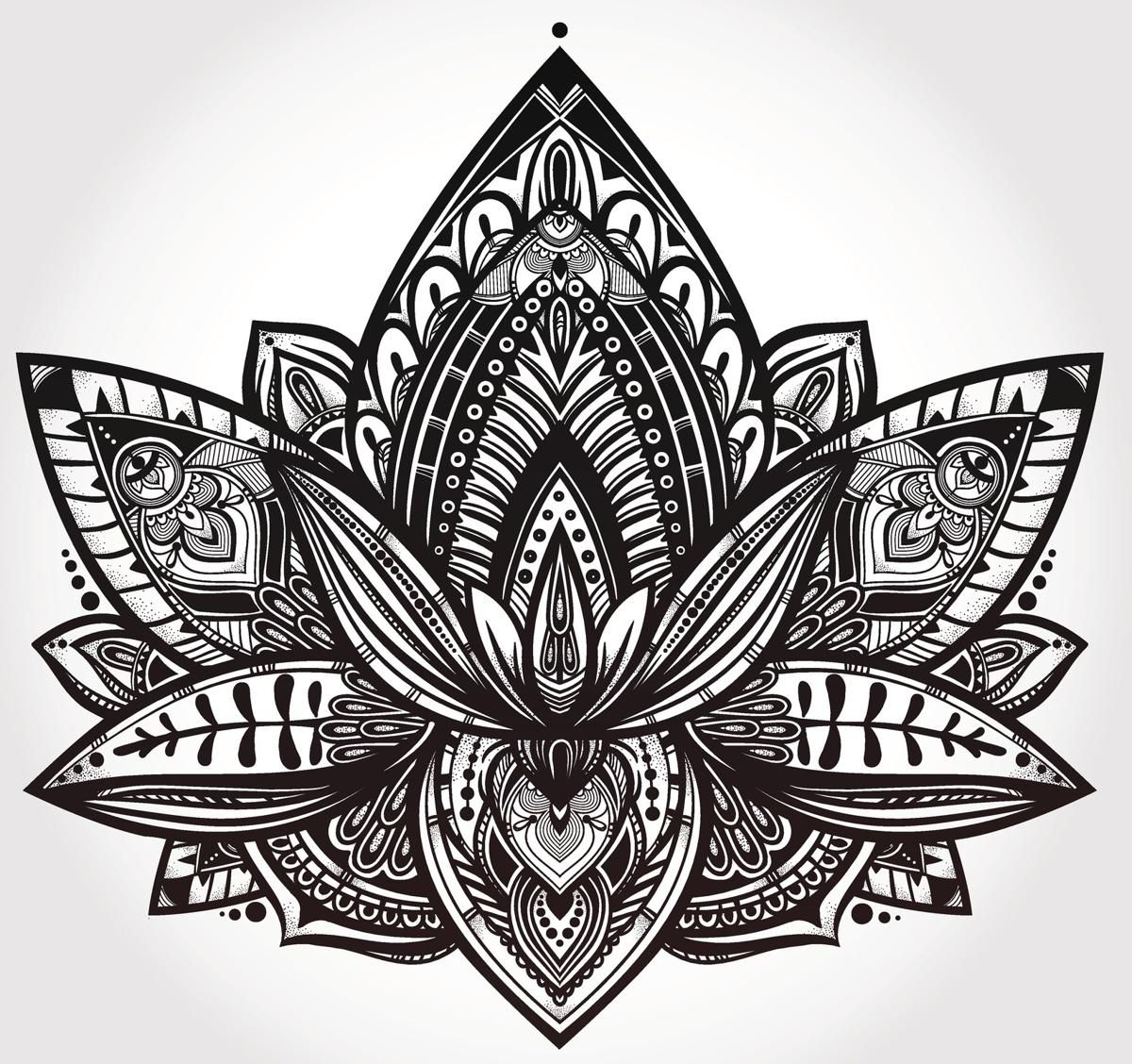 These are the most popular design ideas for hippie tattoos hippie royalty free lotus flower tattoo designs photos and stock photography izmirmasajfo Gallery