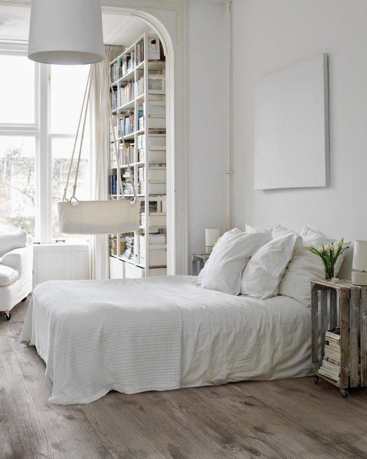 Chambre blanche en 65 super id es de meubles et d coration for Chambre blanche
