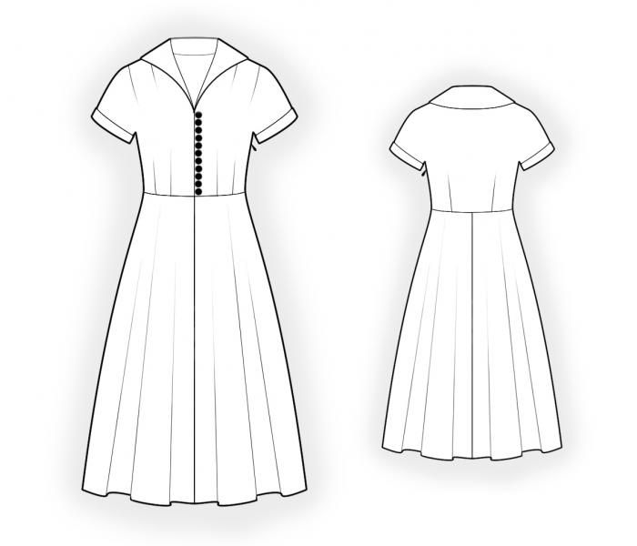 Dress - Sewing Pattern #4578. Made-to-measure sewing pattern from ...